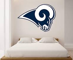 Amazon Com Ottos S Art American Football Logo La Rams Removable Wall Decal Vinyl For Home Decoration Home Kitchen