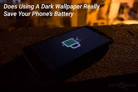 does using dark wallpapers really save