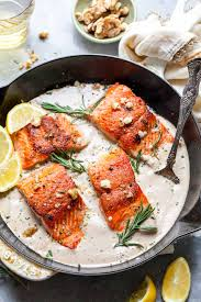 Pan Seared Salmon with Rosemary-Walnut ...