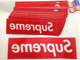 Us Big Size Supreme Box Logo Red Sticker