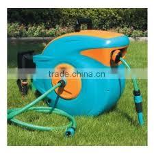 wall mounted garden hose reel auto roll