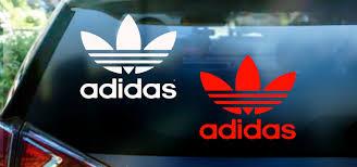 Orginal Adidas Logo Decal Sticker For A Car Window Wall Or Laptop Hustlesole