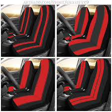 black red race stripes car seat covers
