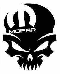 Product Mopar Skull Dodge Window Sticker