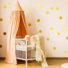 Amazon Com Easy Peel Stick Gold Wall Decal Dots 2 Inch 200 Decals Safe On Walls Paint Metallic Vinyl Polka Dot Decor Round Circle Art Glitter Stickers Baby Nursery