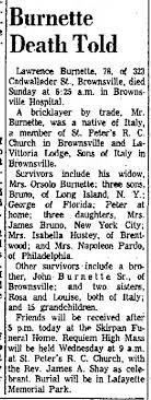 Lawrence Burnette Obituary - Newspapers.com