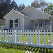 Weatherables Plymouth 4 Ft H X 8 Ft W White Vinyl Picket Fence Panel Kit Pwpi 3r5 5 4x8 The Home Depot