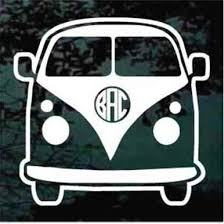 Volkswagen Bus Monogram Decals Car Window Stickers Decal Junky