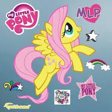 Hasbro My Little Pony Fluttershy Peel And Stick Wall Decal Hasbro My Little Pony Wall Decals Pony