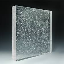 crystal clear textured glass designed