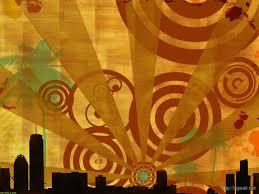 abstrack retro city wallpaper
