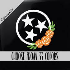 Excited To Share This Item From My Etsy Shop Tennessee Tri Star Flag Vinyl Decal Car Yeti Tumbler Laptop Stic Car Decals Car Decals Stickers Car Decals Vinyl