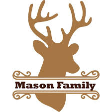 Personalized Name Vinyl Decal Sticker Custom Initial Wall Art Personalization Decor Deer Head Animal Wildlife Family Hunting Welcome Sign 12 Inches X 18 Inches Walmart Com Walmart Com