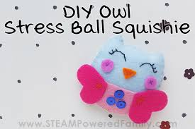 how to make a plush owl stress ball