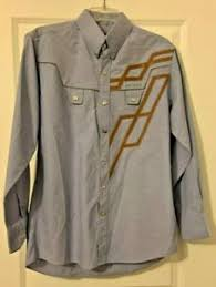 bob berg men s western shirt size sm