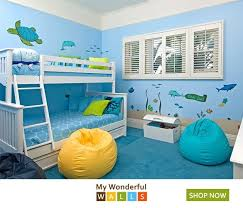 Under The Sea Wall Decal Sticker Kit Jumbo Set Ocean Themed Bedroom Themed Kids Room Bedroom Themes