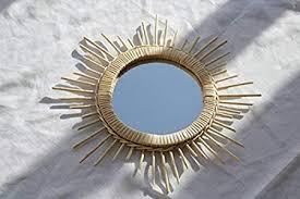 wicker mirror sunburst wall mirror
