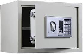 CTO Locker Apparel Cabinet Safes Jewellery Money Valuables Digital Electronic Steel Safes & Lock Boxes with Keypad for Documents and Money, White, 352525cm - - Amazon.com