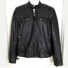 lucky brand cafe racer leather jacket