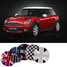 Mini Cooper Crystal Eva Glowing Decal For Gas Cap Cover Carsoda
