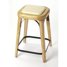 mazie bar counter stool leather