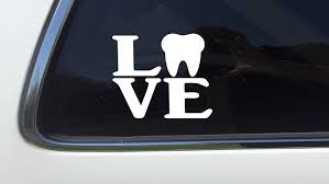 Amazon Com Thatlilcabin Love Tooth As028 6 Dental Hygiene Decal Sticker Automotive