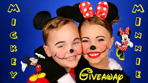 mickey mouse and minnie mouse makeup