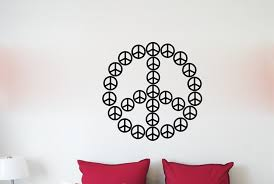 Winston Porter Peace Sign Symbol Vinyl Words Wall Decal Wayfair