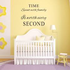 Amazon Com Marcheng Family Wall Decals Time Spent With Family Is Worth Every Second Wall Decal Quote Home Decor Art Quote Decals Wall Art Stickers Decal Home Kitchen