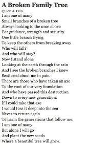 broken family poems
