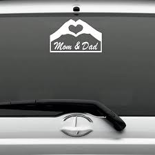 Mom Dad Hands Heart Decal Sticker For Car Truck Van Laptop Wall Art Warm And Romantic Car Sticker Car Stickers Aliexpress