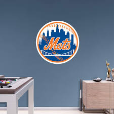 New York Mets Fathead Team Logo Wall Decal Logo Wall New York Mets Logo New York Mets
