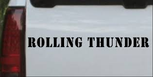 Rolling Thunder Car Or Truck Window Decal Sticker Or Wall Art Decalsrock