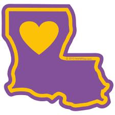 Heart In Louisiana La Sticker All Weather High Quality Vinyl Sticker Heart Sticker Company
