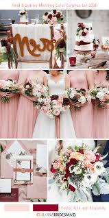 spring wedding color bos for 2020