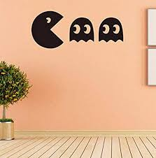 Amazon Com Dferh Wall Stickers Pacman Game Vinyl Decal Decoration Your Family Room Wallpaper Living Room Diy Removable S Kitchen Dining
