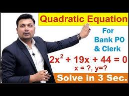 quadratic equation tricks solve in