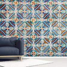 Turkish Geometric Tiles Wall Mural Wallsauce Us