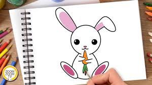 Hướng dẫn cách vẽ CON THỎ, Tô màu CON THỎ - How to draw a Bunny ...