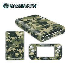 Gamegenixx Skin Sticker Vinyl Decal Wrap Cover For Nintendo Wiiu Green Camouflage Stickers Aliexpress