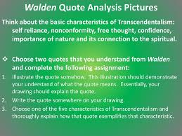 walden quote analysis pictures ppt