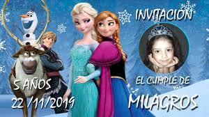 Frozen Video Invitacion El Camaleon De Las Voces Youtube