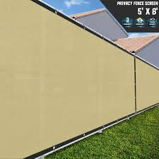 Tang Sunshades Depot 5 X 8 Ft Beige Tan Privacy Fence Screen Temporary Fence Screen 150 Gsm Heavy Duty Windscreen Fence Netting Fence Cover 88 Privacy Blockage Excellent Airflow 3 Years Warranty