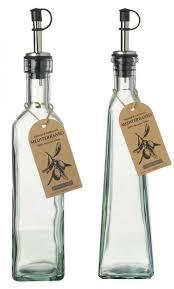 oil vinegar bottles with spout and cap