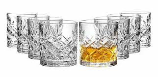 clovelly lowball whiskey glasses 8 pc
