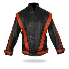 thriller black leather jacket