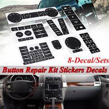 A C Radio Hazard Steering Climate Button Repair Decal Sticker Set For Vw Volkswagen Touareg 2004 2009 Walmart Com Walmart Com