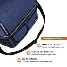 dual partment double deck lunch bag