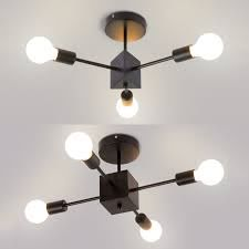 metal bare bulb ceiling fixture 3 4