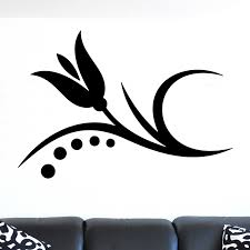 Simple Flower Room Accent Wall Sticker Decal World Of Wall Stickers